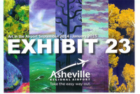 Gallery Announcement for 2014 Asheville Airport Exhibit